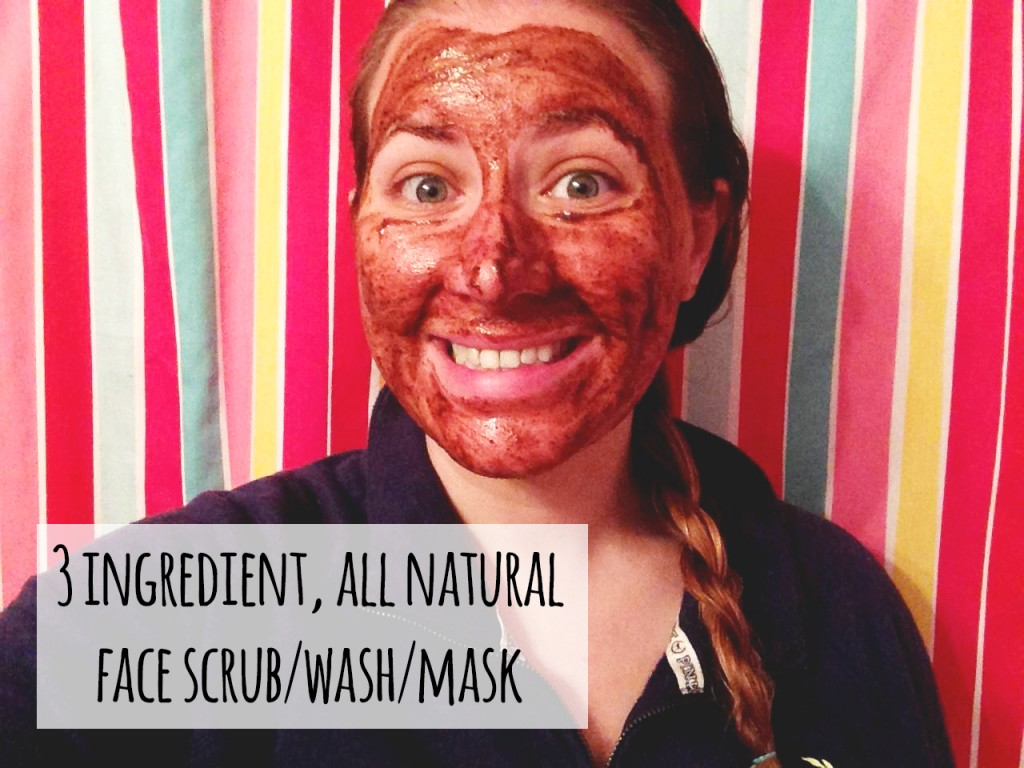 DIY 3 ingredient all-natural face wash mask scrub to reduce acne