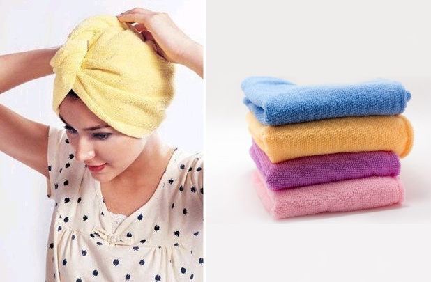 Microfiber Hair Drying Towels on GroopDealz
