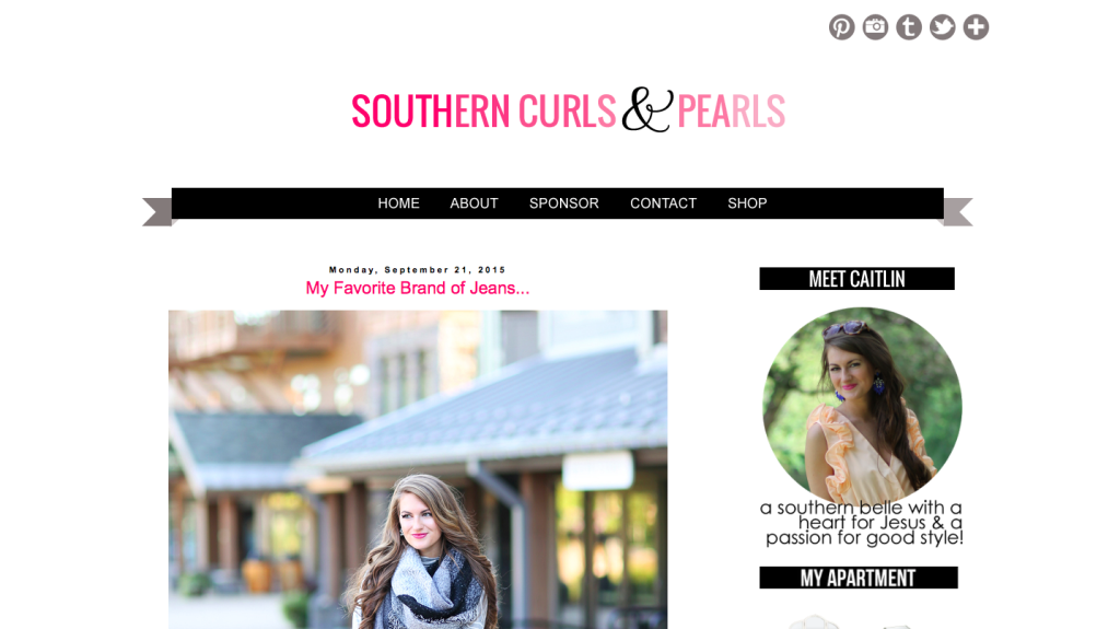 caitlin of southern curls and pearls // stephanieorefice.net