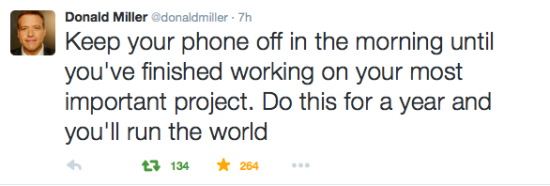 Donald Miller tweet // stephanieorefice.net