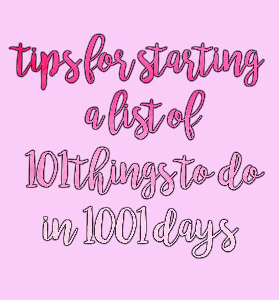1001 Games To Play Before You Die List tips for starting a 101 in 1001 days list
